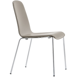 Chaise Trend cuir 447 448 pedrali empilable assise cuir tube chromé pour contract