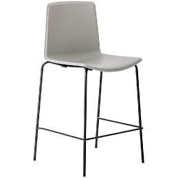 Chaise haute 892 hauteur 65 cm 896 75 cm Tweet empilable Pedrali coque en polypropylène moulé par double-injection et structure