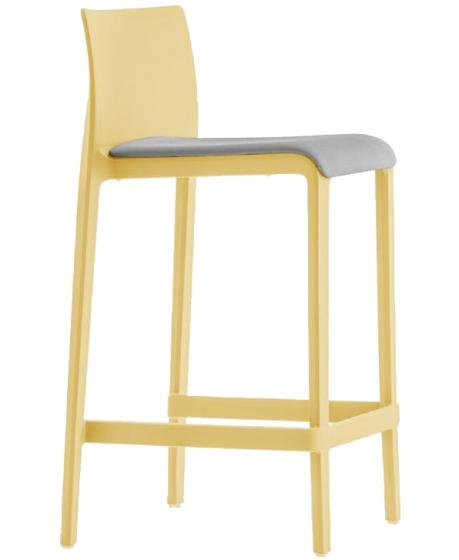 Chaise haute Volt 677/2 design Dondoli Pocci Pedrali assise garnie hauteur assise 68 ou 78 cm
