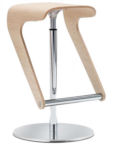 Tabouret design Woody Pedrali 495 496 bois cp chêne pivotant réglable dynamique