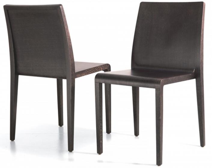 Chaise empilable 421 Young Pedrali chene teinté chaise légère chne blanchi wengé bois teinté vintage