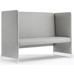 Banquette Zippo 100 Pedrali canapés confortables meeting espaces lounge 2 places rembourrée avec assise en polyuréthane