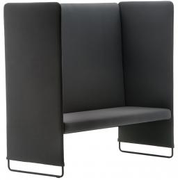 Banquette Zippo 140 Pedrali canapés confortables meeting espaces lounge 2 places rembourrée avec assise en polyuréthane