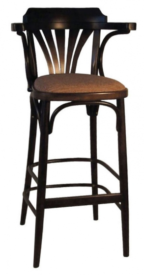 Chaise haute Kemy bois courbé garnie