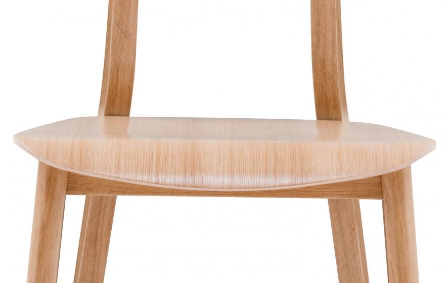 Chaise Loft Simplet hetre bois garnie