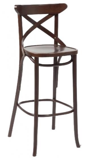 Chaise haute Croce hetre bois courbé