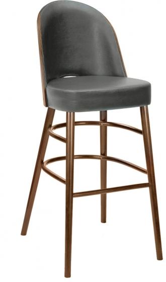 Chaise haute Scoop bois hetre garnie