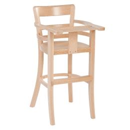 Chaise haute Babe bois enfant hetre