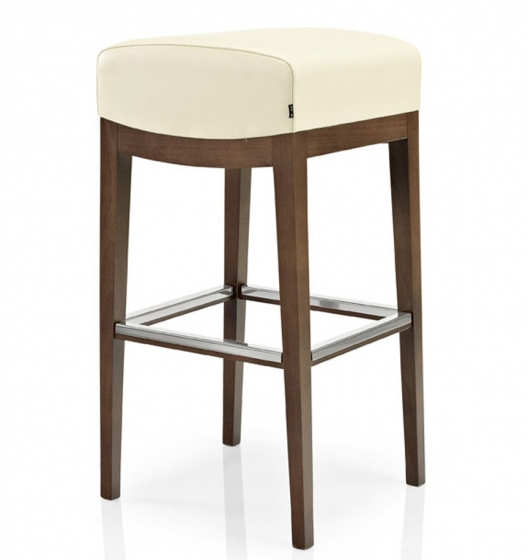 Tabouret Williams bois hetre garnie