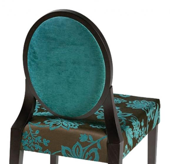 Chaise haute Meyronne bois hetre garnie