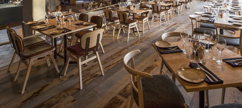 Mobilier chr table chaise bois pour restaurant industriel